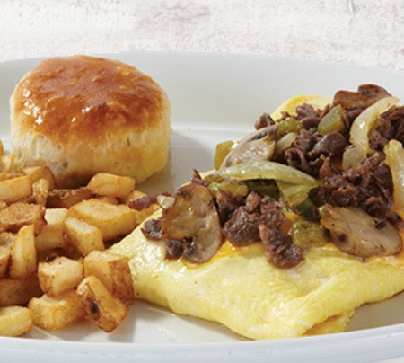 Philly Steak & Cheese Omelet