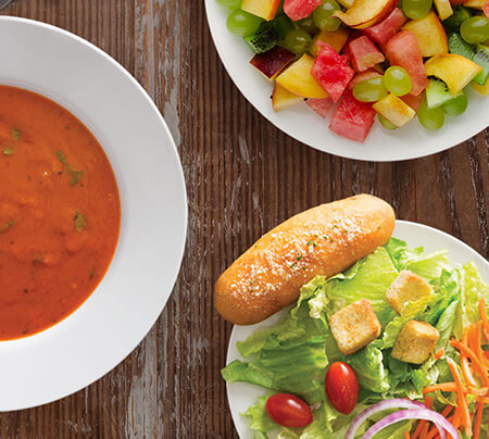 Fresh Salad, Soup & Fruit Bar