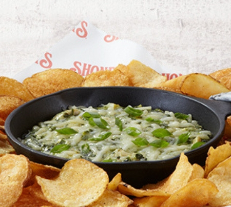 Spinach & Artichoke Dip with Dixie Tater Chips®