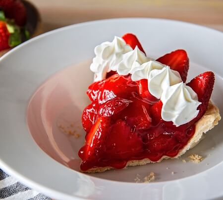 Slice of Strawberry Pie (230 cal)