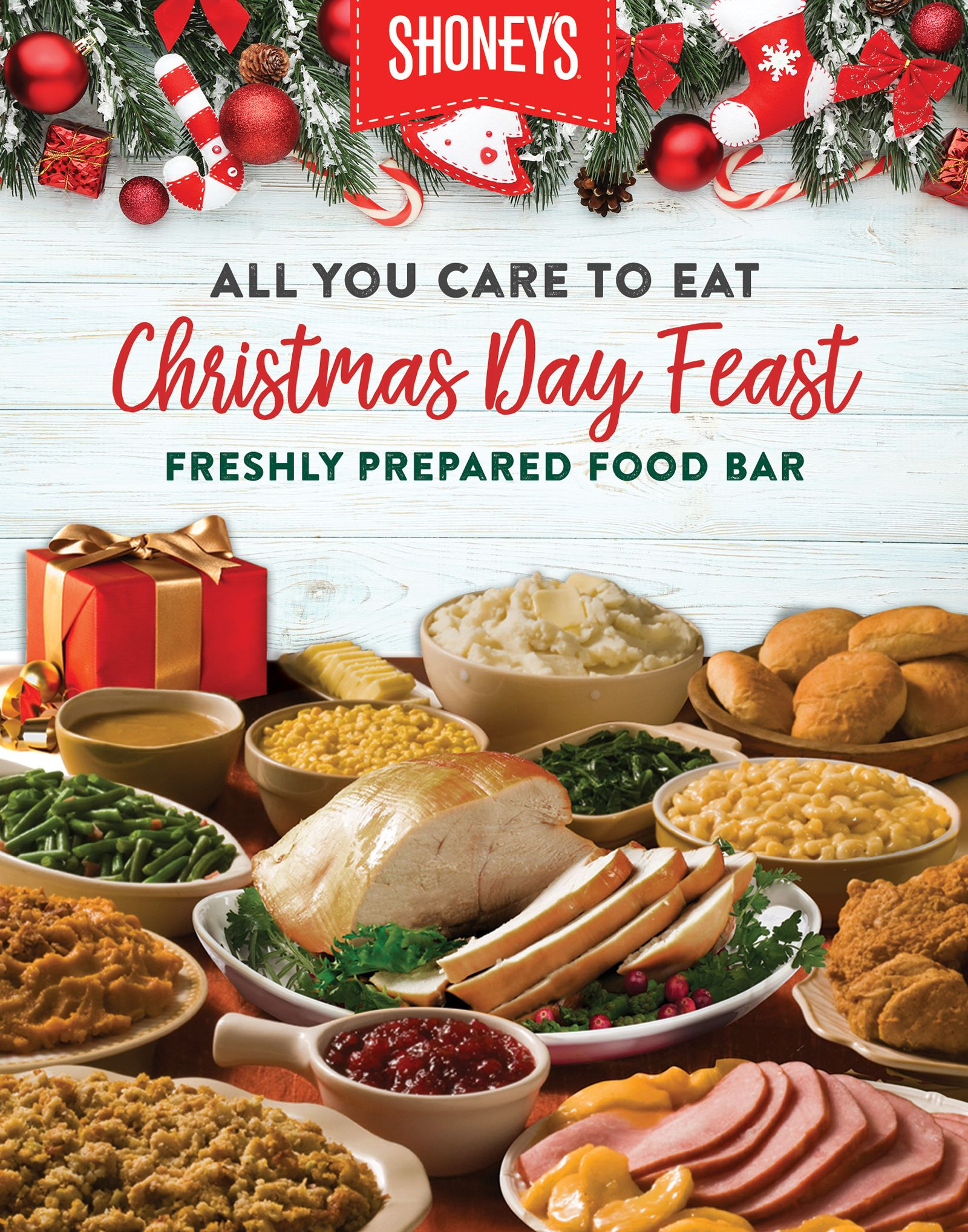 Open for a Christmas Day Feast